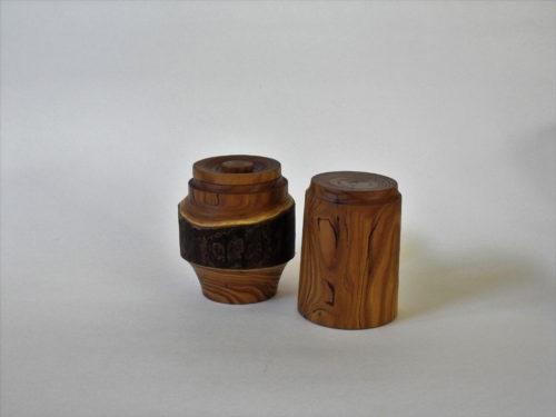 Boîte à thé double couvercle olivier - Gilles McInnis