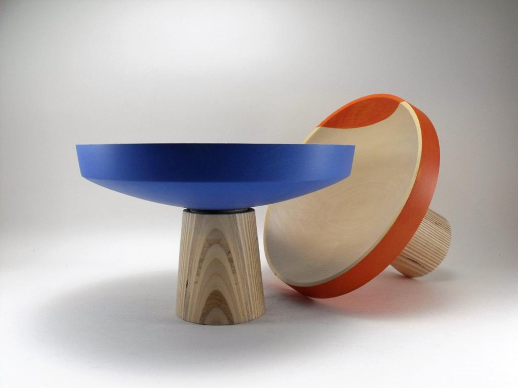 Plateau orange et bleu