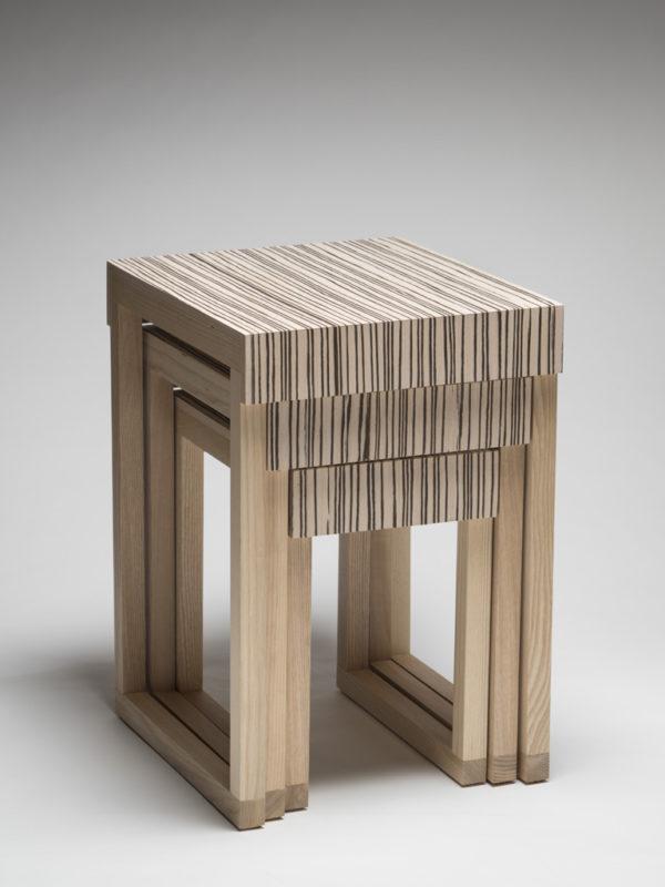 Table gigogne Zebrano - Gilles McInnis
