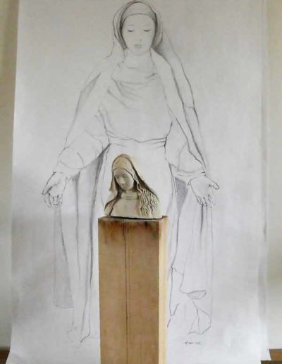 dessin-pour-sculpture-Vierge-(6)